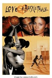 Sanaa Lathan and Omar Epps on the Love and Basketball movie cover.