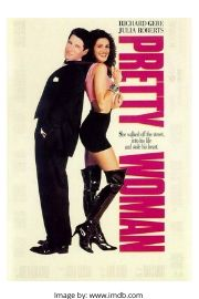 Richard Gere and Julia Roberts on the Pretty Woman movie cover.