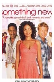 Sanaa Lathan, Simon Baker and Blair Underwood on the Something New movie cover.