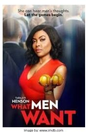 Taraji P. Henson on the romantic comedy movie cover of What Men Want