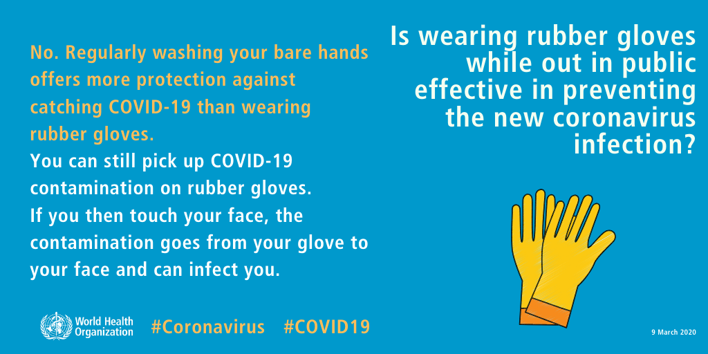 COVID-19 Facts on Wearing gloves